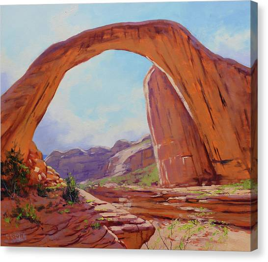 Traditional Canvas Print - Canyon Arch by Graham Gercken
