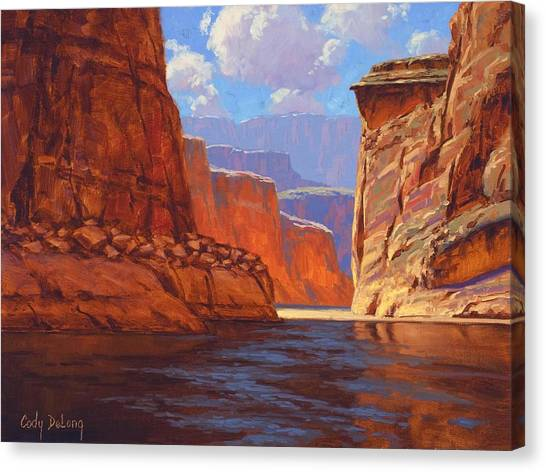 Red Rock Canvas Print - Canyon Colors by Cody DeLong