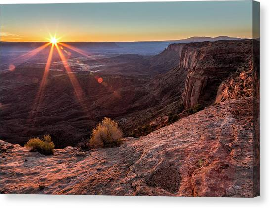 Canvas Print featuring the photograph Canyon Country Sunrise by Denise Bush