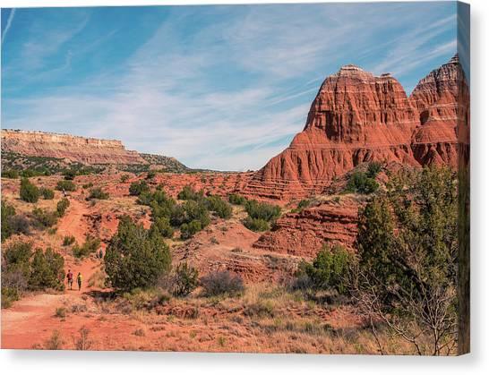 Canyon Hike Canvas Print