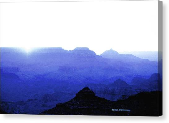 Canyon In Blue Canvas Print