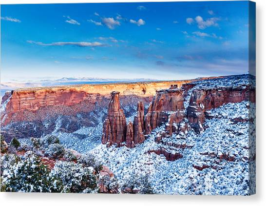 Canyon Of Colors Canvas Print