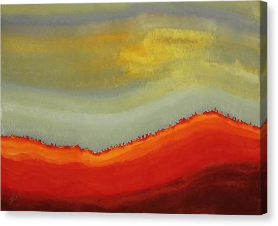 Canyon Outlandish Original Painting Canvas Print