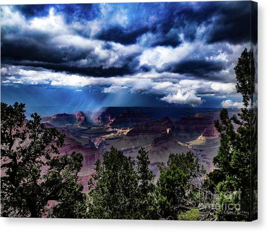Canyon Rains Canvas Print