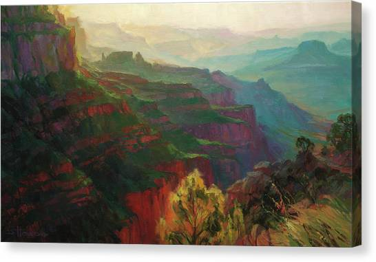 Grand Canyon Canvas Print - Canyon Silhouettes by Steve Henderson