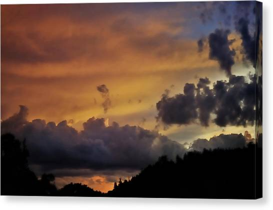 Canyon Sunset Canvas Print by Ron Cline