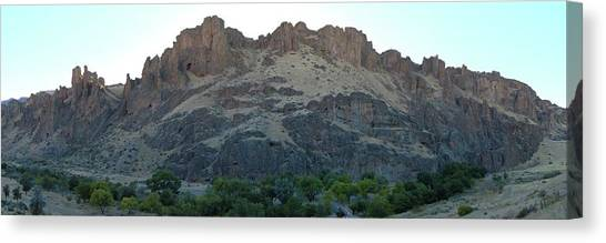Red Rock Canvas Print - Canyon Wall At Sunset by Jeremy Tamsen