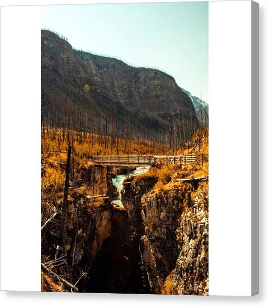 Star Trek Canvas Print - Canyons In The Kootenays - British by Scotty Brown