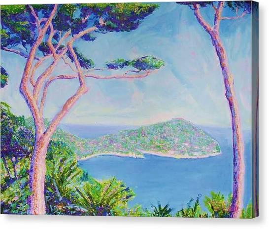 Cap Ferat Provence Canvas Print by Pixie Glore
