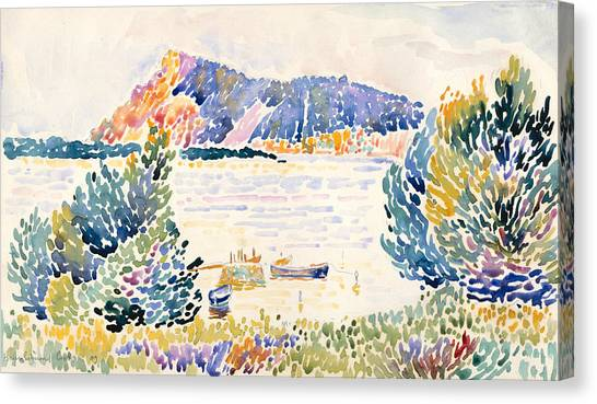 Pointillism Canvas Print - Cap Negre by Henri-Edmond Cross