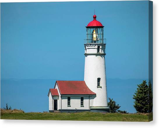 Cape Blanco Lighthouse At Cape Blanco, Oregon Canvas Print