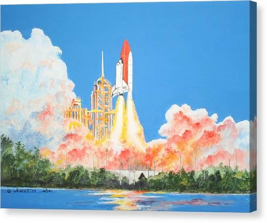 Cape Canaveral Canvas Print by Dennis Vebert