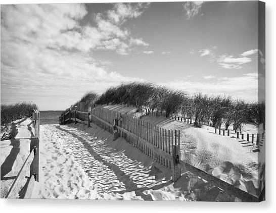 Cape Cod Beach Entry Canvas Print