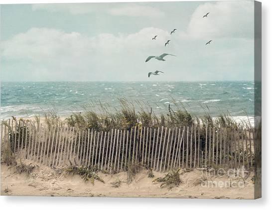 Cape Cod Beach Scene Canvas Print