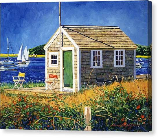 Shingles Canvas Print - Cape Cod Boat House by David Lloyd Glover