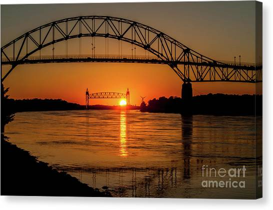 Cape Cod Canal Sunset Canvas Print