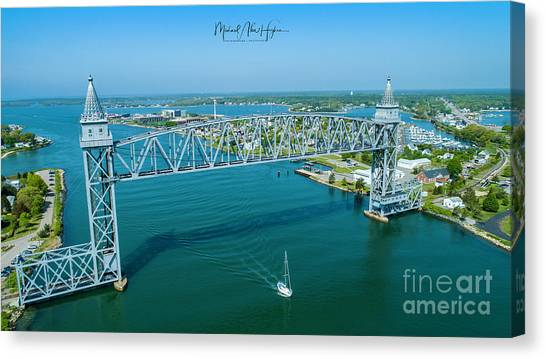 Cape Cod Canal Suspension Bridge Canvas Print