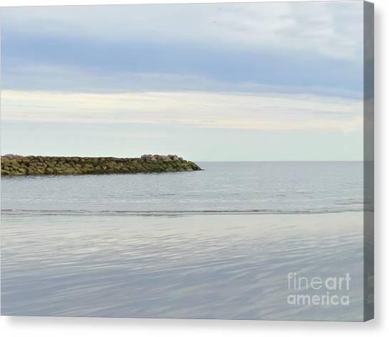 Cape Cod Jetty Sundown Canvas Print