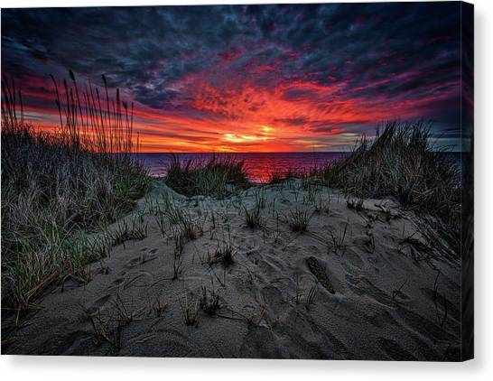 Coast Guard Canvas Print - Cape Cod Sunrise by Rick Berk