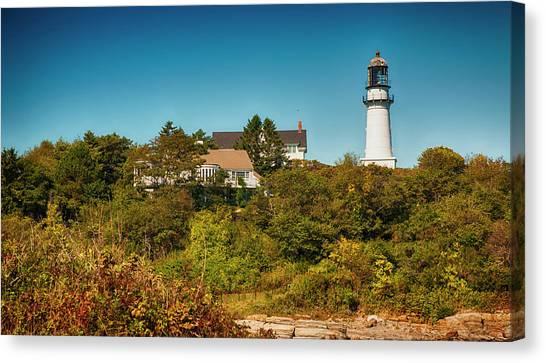 Cape Elizabeth Lighthouse Canvas Print