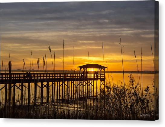 Cape Fear Sunset Fort Fisher Canvas Print