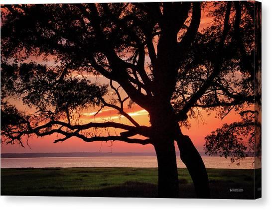 Cape Fear Sunset Overlook Canvas Print