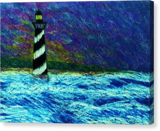 Cape Hetteras Light House Canvas Print by Jeanette Stewart