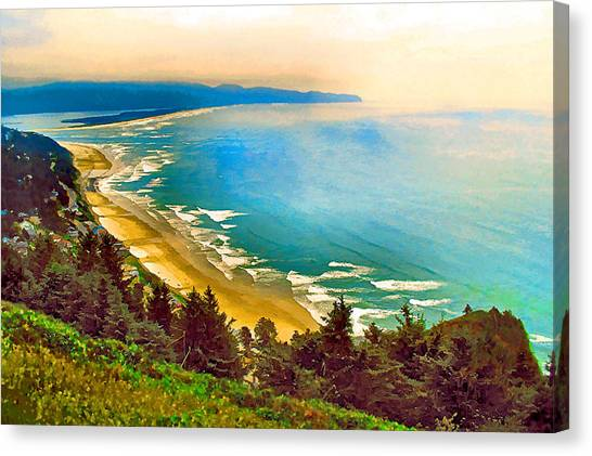 Cape Lookout From Oceanside Canvas Print