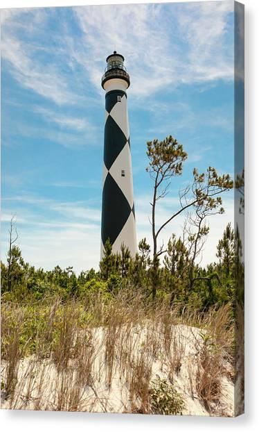 Cape Lookout Light No 2 Canvas Print