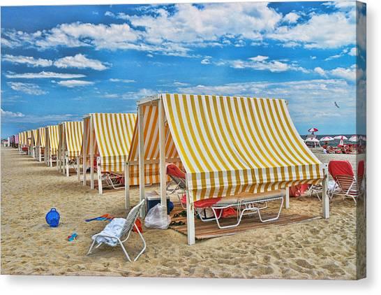 Cape May Cabanas 2 Canvas Print