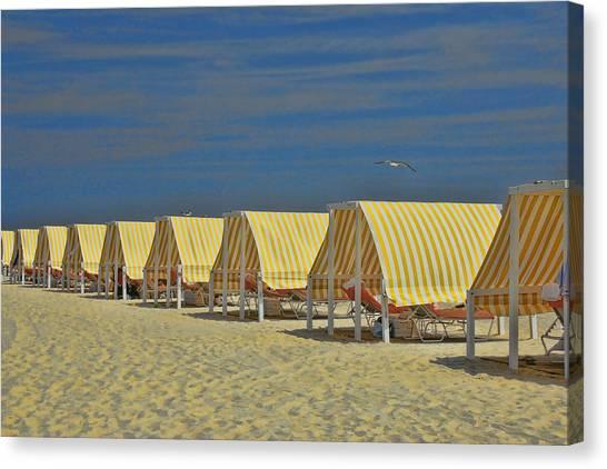 Cape May Cabanas 6 Canvas Print