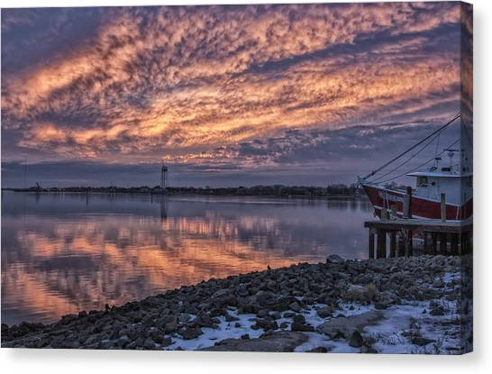 Cape May Harbor Sunrise Canvas Print