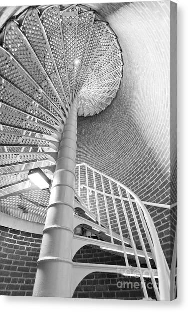 Stairs Canvas Print - Cape May Lighthouse Stairs by Dustin K Ryan