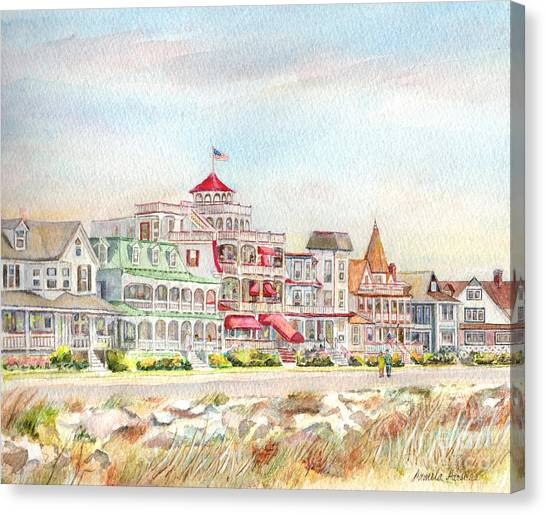 Parsons Canvas Print - Cape May Promenade Cape May New Jersey by Pamela Parsons