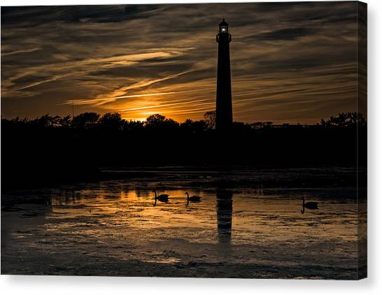 Peace Tower Canvas Print - Cape May Sunset by Rick Berk