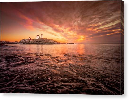 Cape Neddick Light - At Dawn Canvas Print