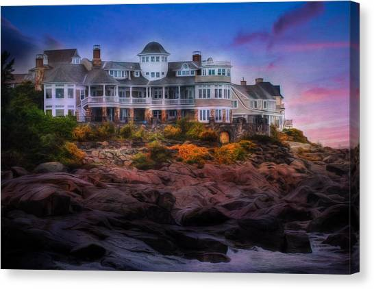 Cape Neddick Maine Scenic Vista Canvas Print