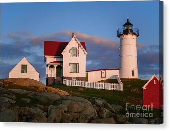 Linda King Canvas Print - Cape Neddick Nubble Lighthouse 2634 by Linda King
