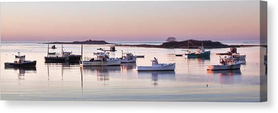 Cape Porpoise Harbor Panorama Canvas Print