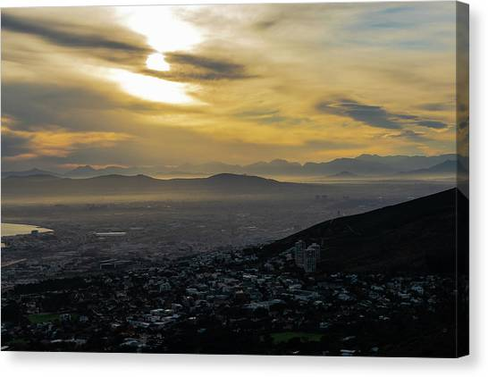 Canvas Print - Cape Town Morning From Table Mountain by Steven Richman