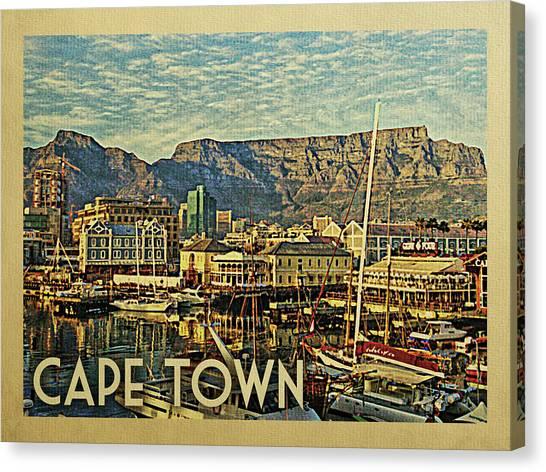 Cape Town Canvas Print - Cape Town Travel Poster by Flo Karp