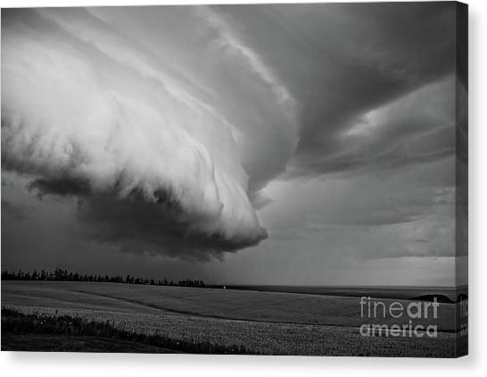 Tornadoes Canvas Print - Cape Tyron Vortex Black And White by Edward Fielding