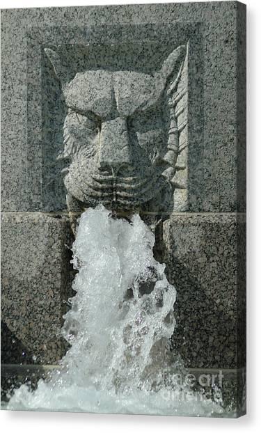 Senate Fountain Lion Canvas Print