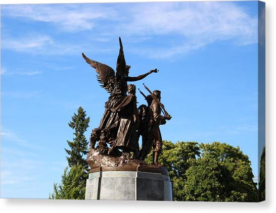 Symbolism Canvas Print - Capital Hill, Olympia Washington Statue by Zachary Lowery