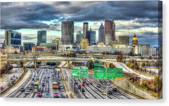 Capital Of The South Atlanta Skyline Cityscape Art Canvas Print