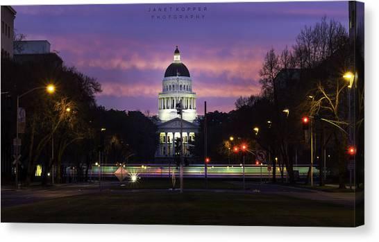 Capital Sunrise Canvas Print