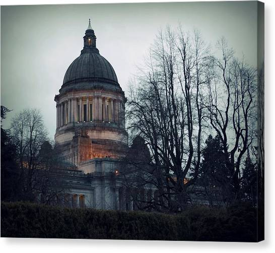 Capitol Aglow Canvas Print