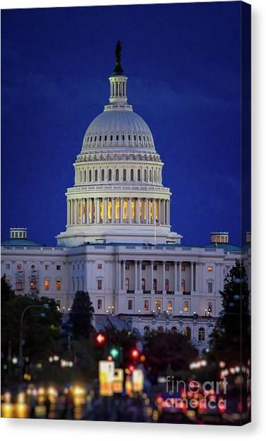 Capitol At Dusk Canvas Print