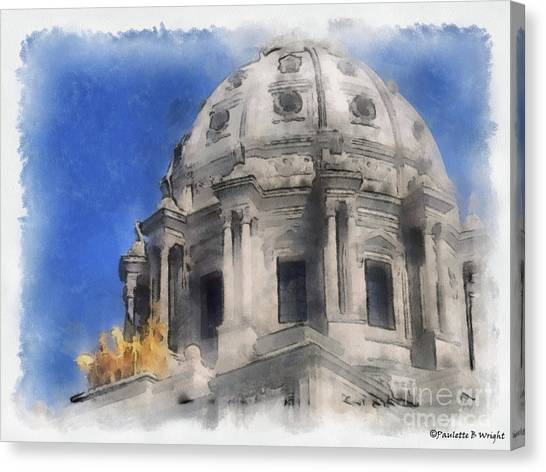 Capitol Dome St Paul Minnesota Canvas Print