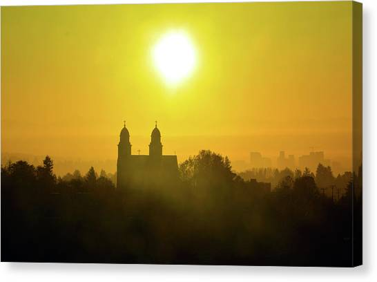 Capitol Hill Sunrise   Canvas Print